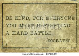 ... Socrates quote printed on grunge vintage cardboard 237185374