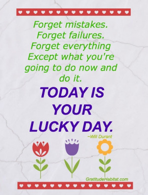 Today is your lucky day!
