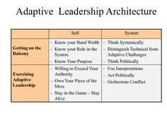 Adaptive leadership - Getting on the balcony: where leadership is ...