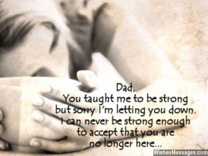you tight and never let go i miss you dad
