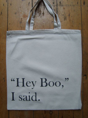 Harper Lee Hey Boo To Kill A Mockingbird Quote Book Bag Canvas Tote