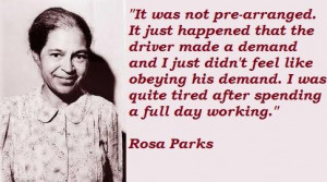 Quotes About Rosa Parks