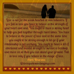 Description: Believe In The Magic Of Love.. | Love Quotes And Sayings