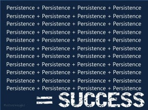 Success is almost totally dependent upon drive and persistence. The ...