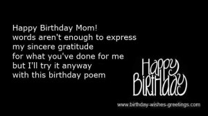 birthday greeting cards message mother -