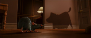 Dug's shadow in Ratatouille .