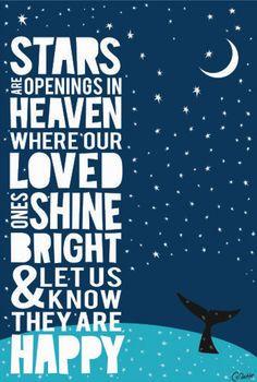 ... Proverb Stars are openings in heaven Raw Art Letterpress Wall Art