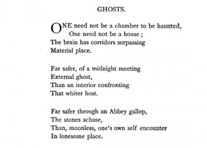 """Emily Dickinson, """"Ghosts"""""""