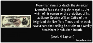 More than illness or death, the American journalist fears standing ...