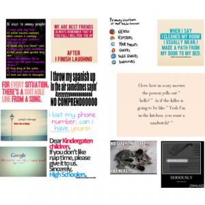Funny Quotes, kinda random though. :) - Polyvore