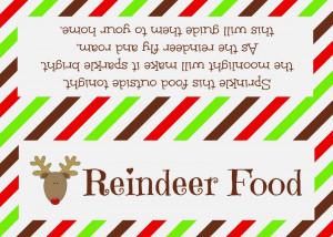 Reindeer food Reindeer Poem