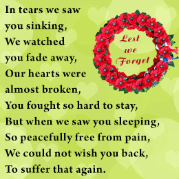 Verses for Memory of Loved Ones