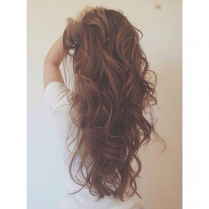 Long Brown Curly Hair Tumblr