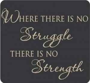 Struggle to gain strength
