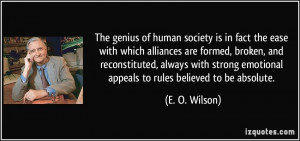 society is in fact the ease with which alliances are formed, broken ...