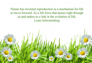 Nature has invented reproduction as a mechanism- life best quotes