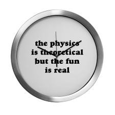 Physics Quote Modern Wall Clock for