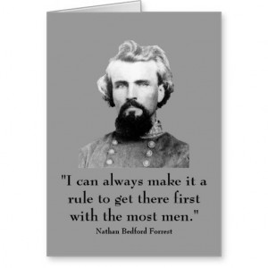Nathan Bedford Forrest and quote Greeting Card