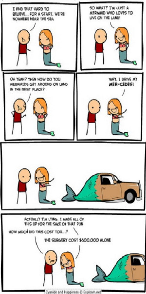 Cyanide and Happiness. Mermaids are Hot.