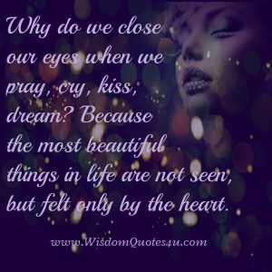 Why do we close our eyes when we kiss?