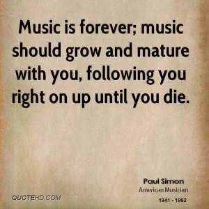 Paul Simon Music Quotes