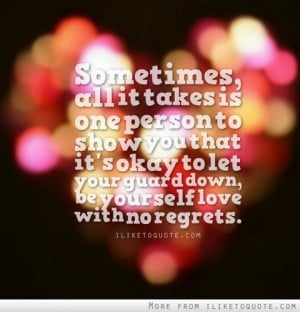 sometimes all it takes is one person