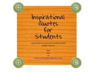 INSPIRATIONAL QUOTES-BACK TO SCHOOL ACTIVITY - TeachersPayTeachers.com