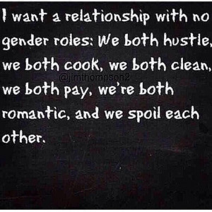 Equality in a relationship!