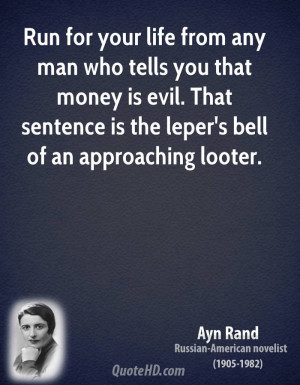 Ayn Rand Money Quotes