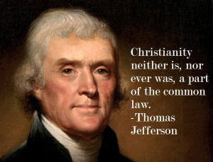 Thomas Jefferson on Christianity and the law