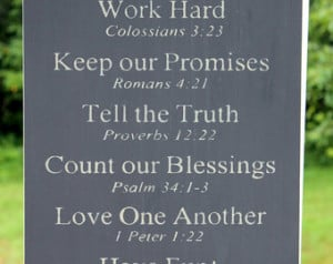 Christian Rules Sign, Family Rules Sign, Religious Family Sign, Bible ...