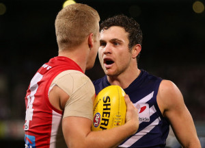 Hayden Ballantyne Hayden Ballantyne R of the Dockers and Daniel