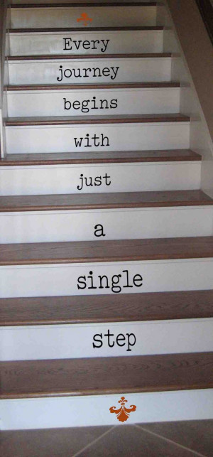 stair words! Vinyl Decals for stairs- choose your own quote or one of ...