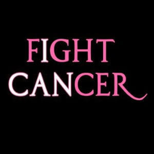 "... Fight Cancer"" in pink, and ""I Can Fight Cancer"" all together"
