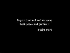 Psalm 34:14 – Seek Peace Papel de Parede Imagem