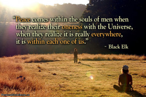 "Inspirational Quote: ""Peace comes within the souls of men when they ..."