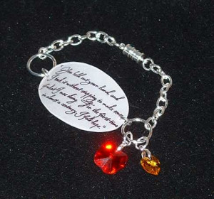 Twilight Saga Quote Bracelet - Custom Jasper Hale quote photo ...