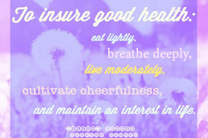 Cheerfulness is the best promoter of health and is as friendly to the ...