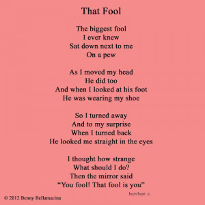 That fool poem Funny Poems For Kids That Rhyme