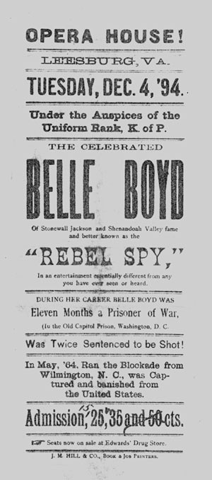 Belle Boyd, born May 9, 1843