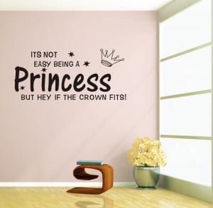 Factory Wholesale 2015 new Girls Room Wall Sticker Being a princess ...