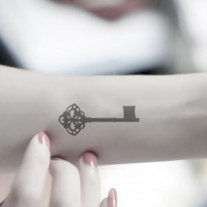 Tattoo - 2pcs KEY wrist quote tattoo body sticker fake tattoo ...