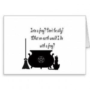 Funny Pagan Witch Saying Greeting Card