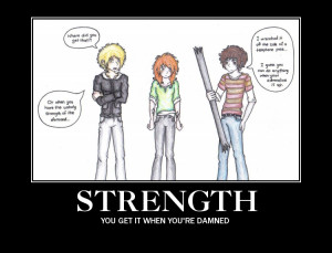 mortal instrument quotes Strength demotivator