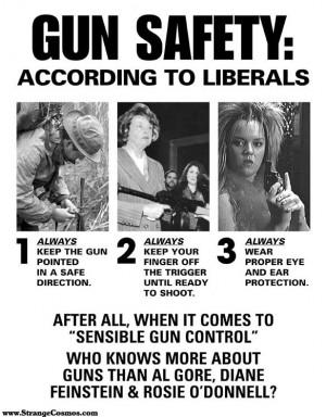 LIBERAL' GUN SAFETY POSTER