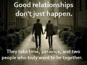 Relationships take work