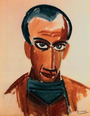 Pablo Picasso. Portrait de Max Jacob. 1907 year