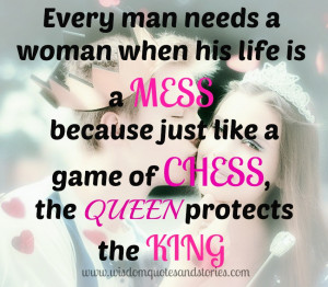 Chess King And Queen Quotes Game of chess, the queen