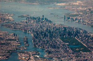 Incredible aerial photo of New York City.