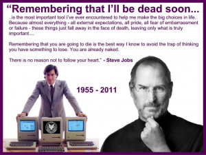 Steve Jobs 1955-2011 - Remembering I'll be Dead Soon...